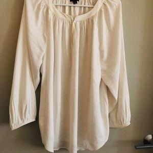 Ann Taylor shirred blouse